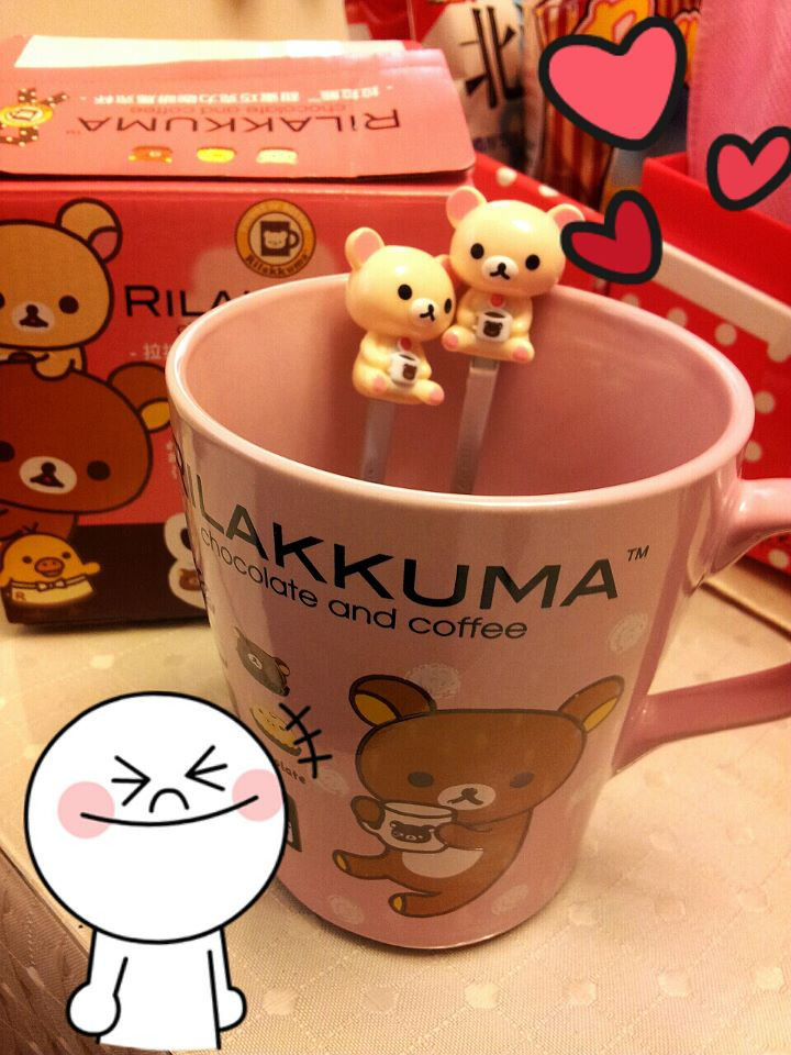 拉拉熊甜蜜巧克力咖啡馬克杯 @魚樂分享誌