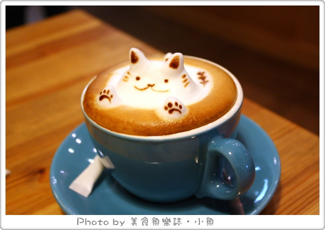 【台中西區】貓旅行咖啡輕食館~超可愛的立體貓拉花 @魚樂分享誌