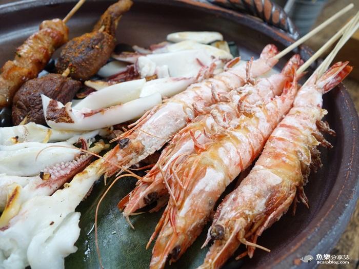 【台北中山】上引水產 炭道海鮮燒烤/戶外燒烤區 @魚樂分享誌