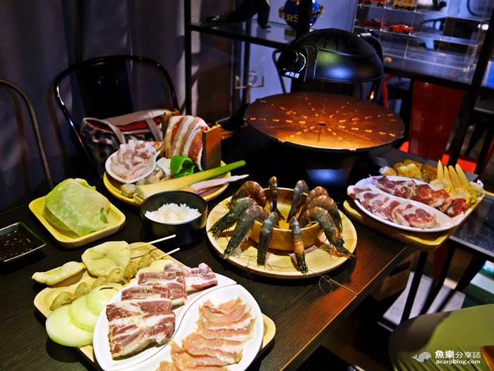 【新北新莊】豐樂Brunch & 樂神Yakiniku-神燈烤爐 無煙燒烤 輔大美食 @魚樂分享誌